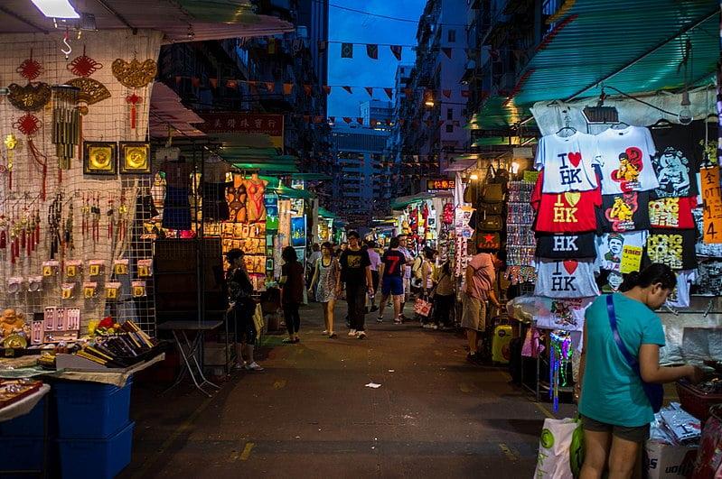 mercado nocturno de Temple street