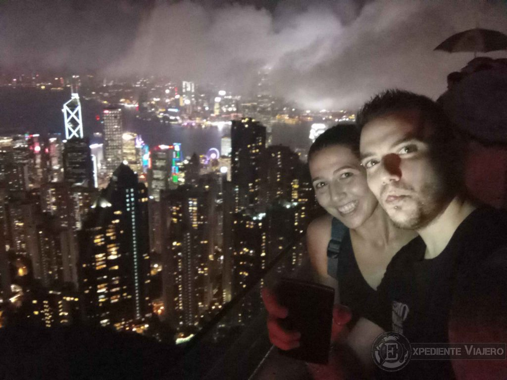 noche en hong kong desde victoria peak