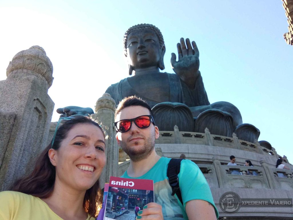 selfie con gran buda de lantau