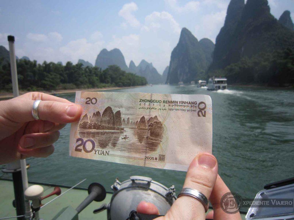 20 cny yuanes rio li guilin