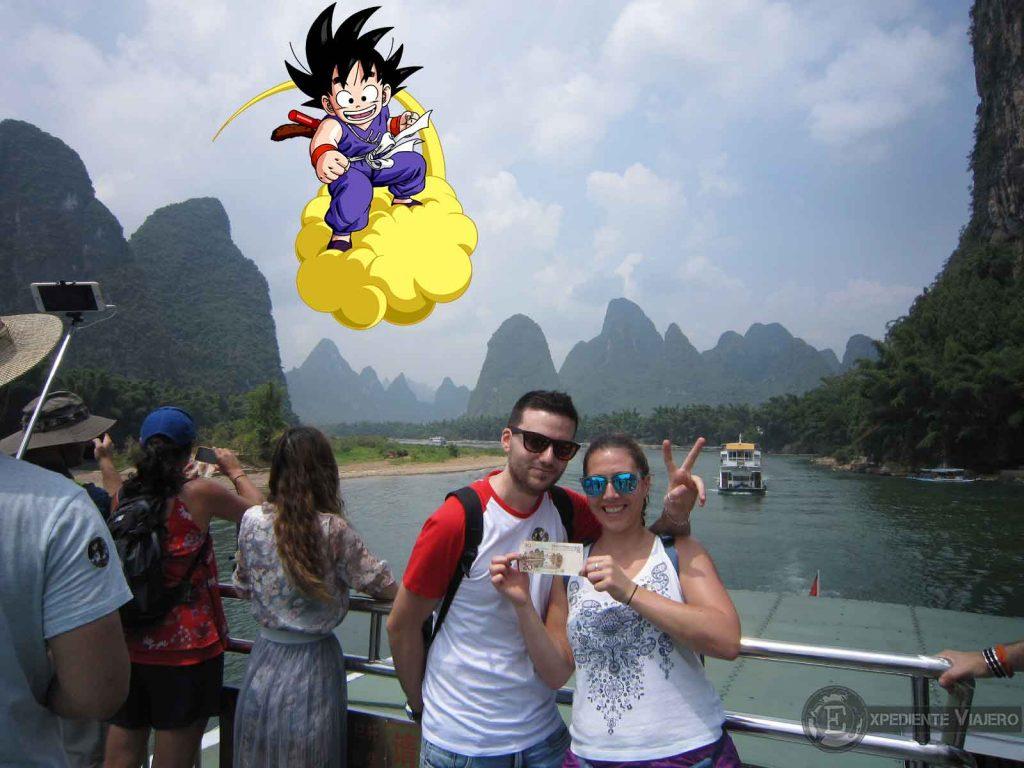 goku china montañas rio guilin