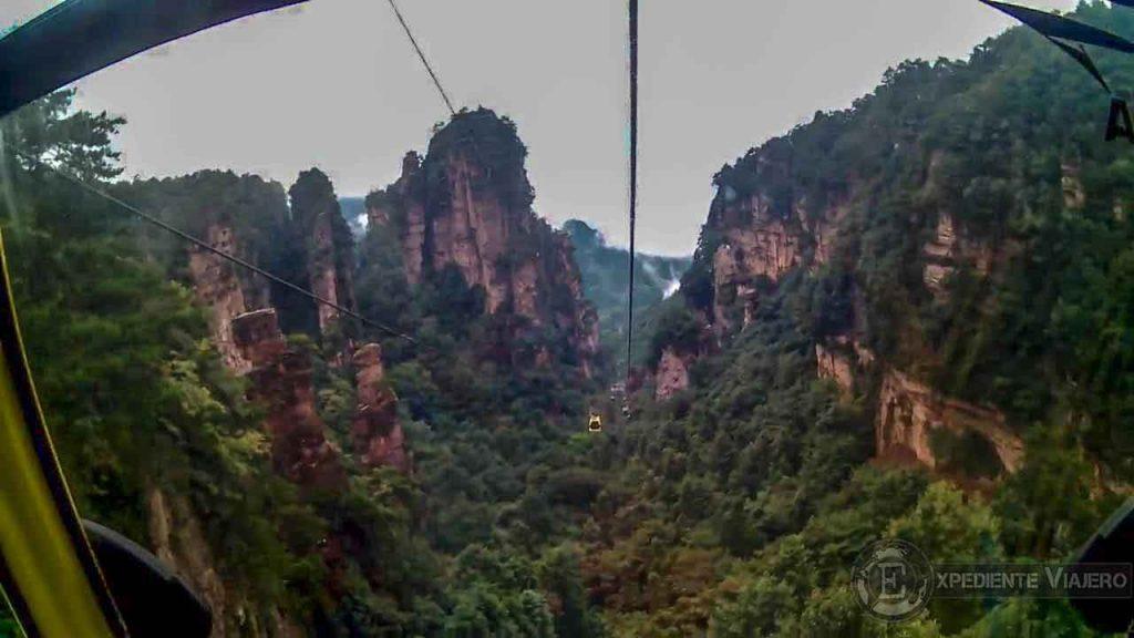 coger teleférico de yangjiajie vistas