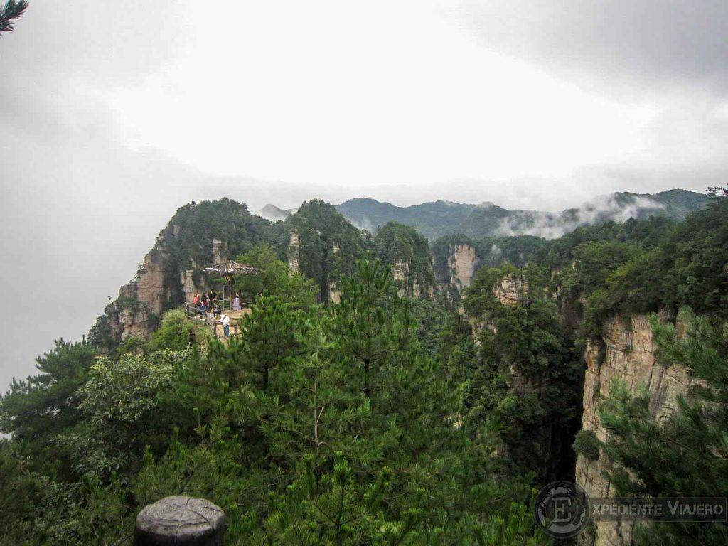 ver de lejos el mirador Tianbo Mansion