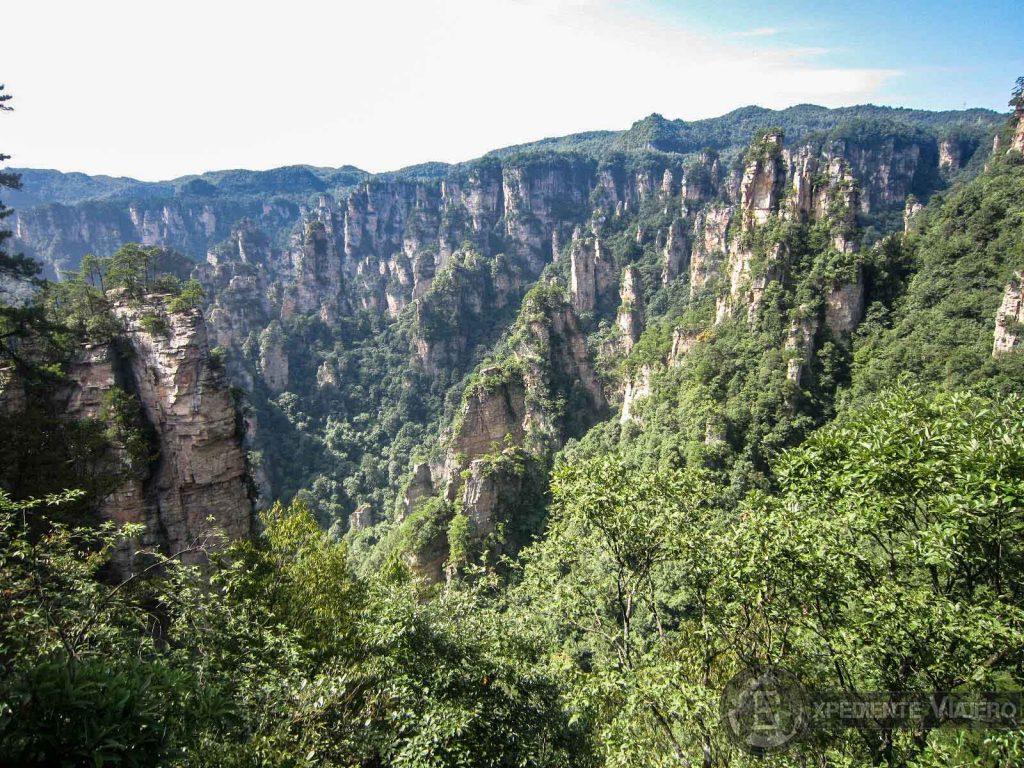 bajar andando desde Tianzi mountain trekking