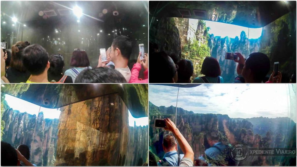 vistas desde ascensor bailong zhangjiajie