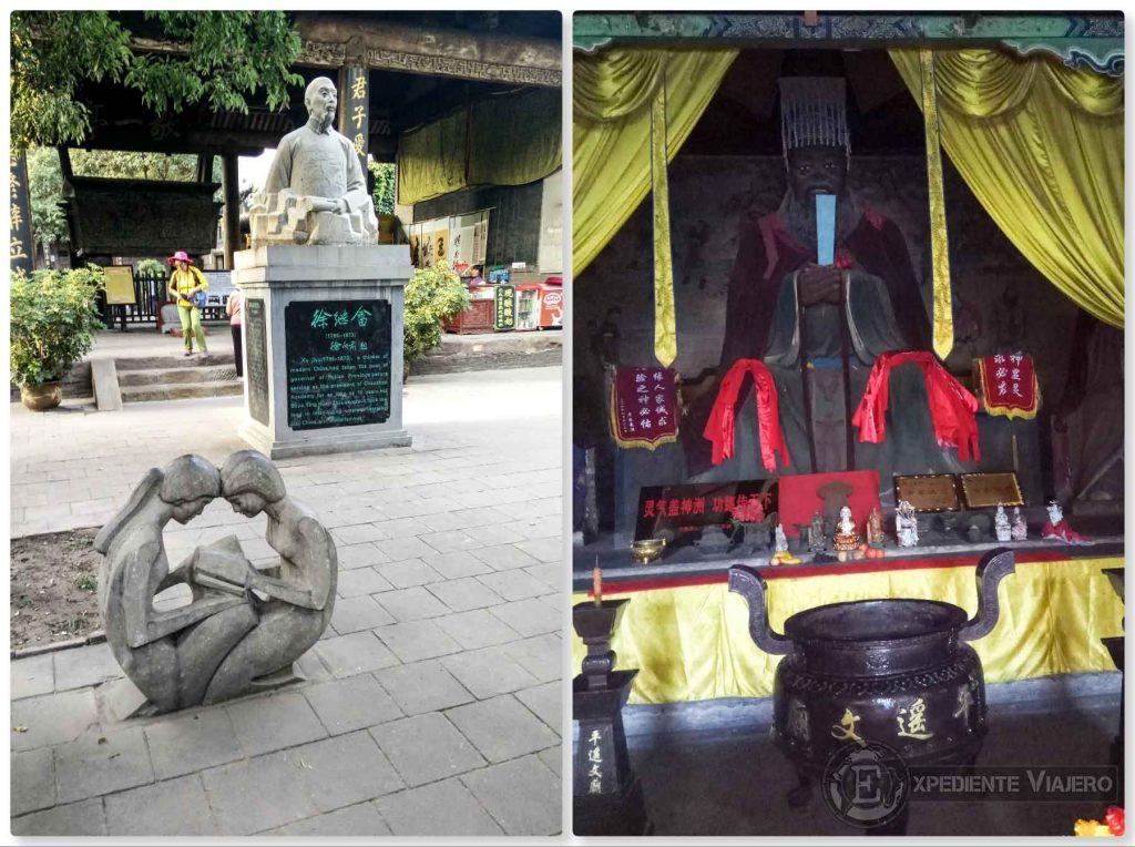 Escultura, figuras en el Templo de Confucio de Pingyao