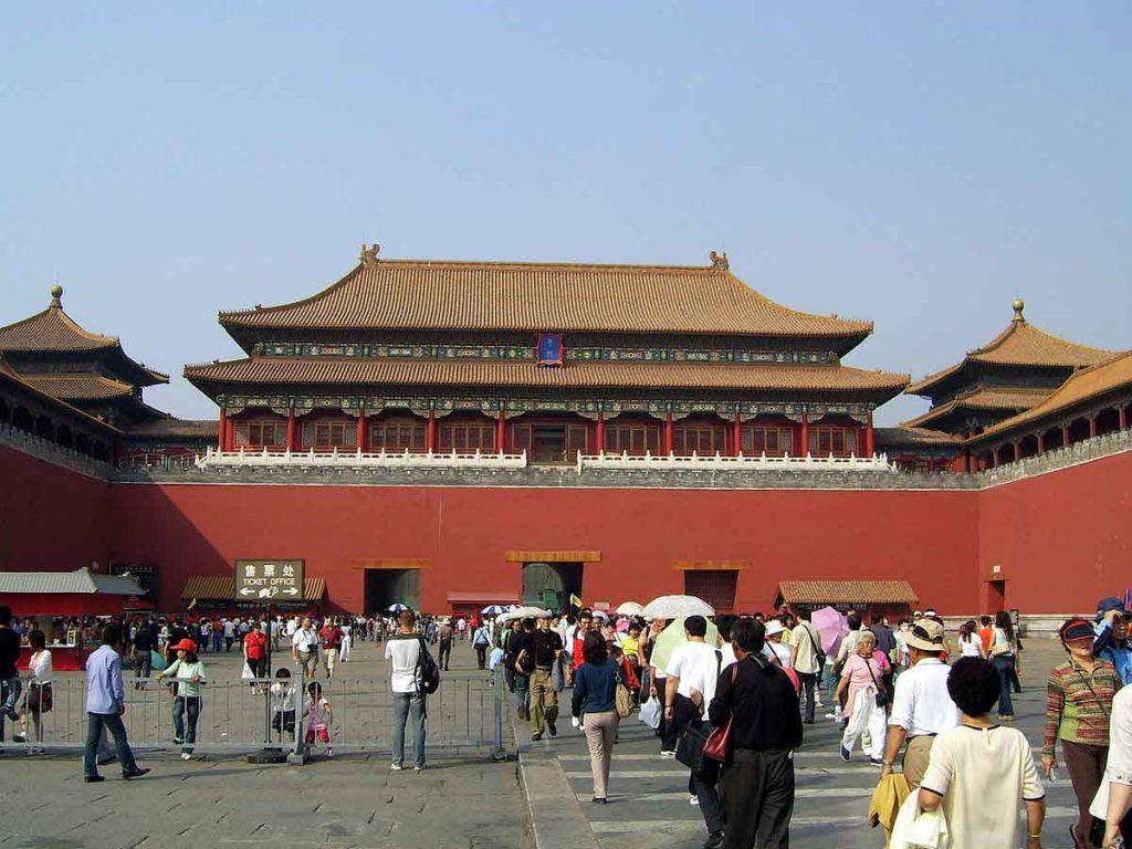 Puerta del Mediodía, en la Ciudad Prohibida de Pekin