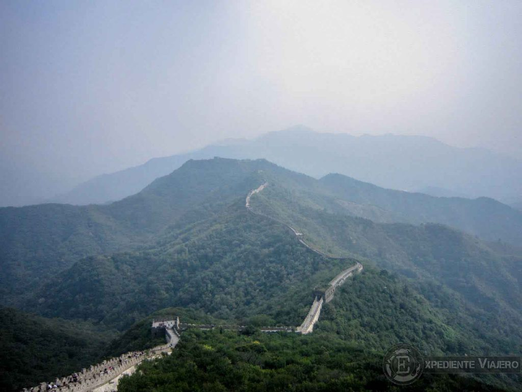Vista desde un mirador de la Gran Muralla de Mutianyu