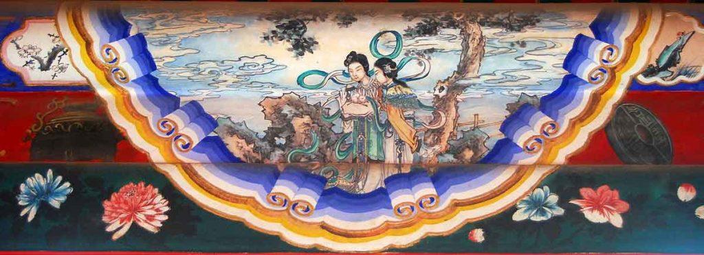 Pintura en el Long Corridor, del Palacio de Verano de Pekin