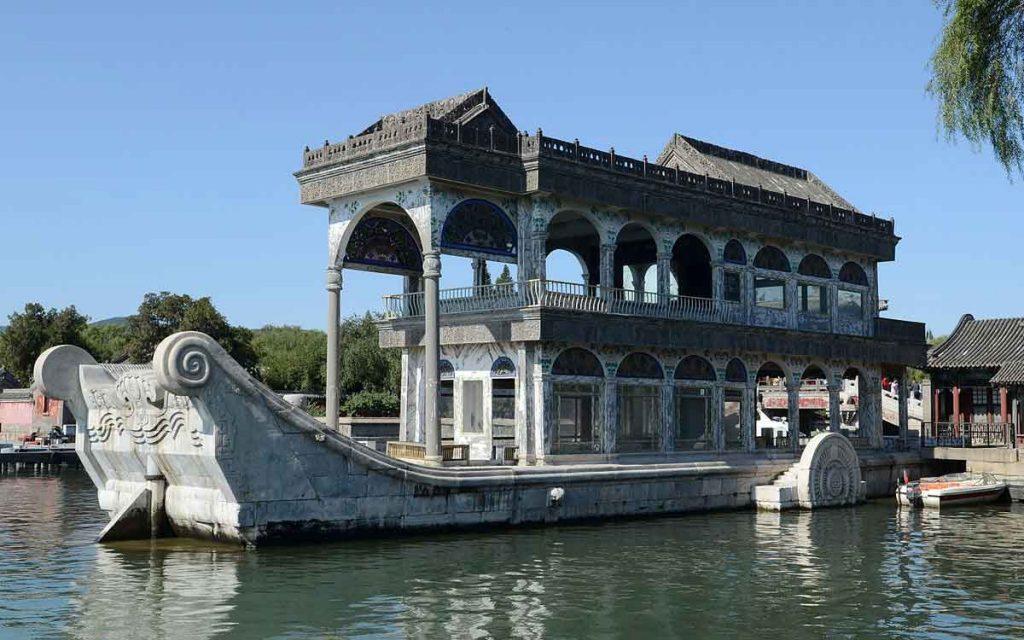 Barco de Mármol, Palacio de Verano en Pekin