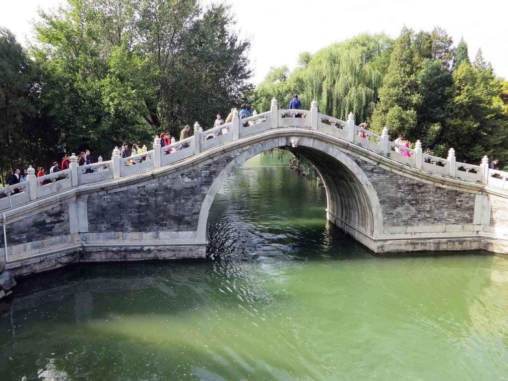 Puente de Jade, en el Palacio de Verano de Pekin