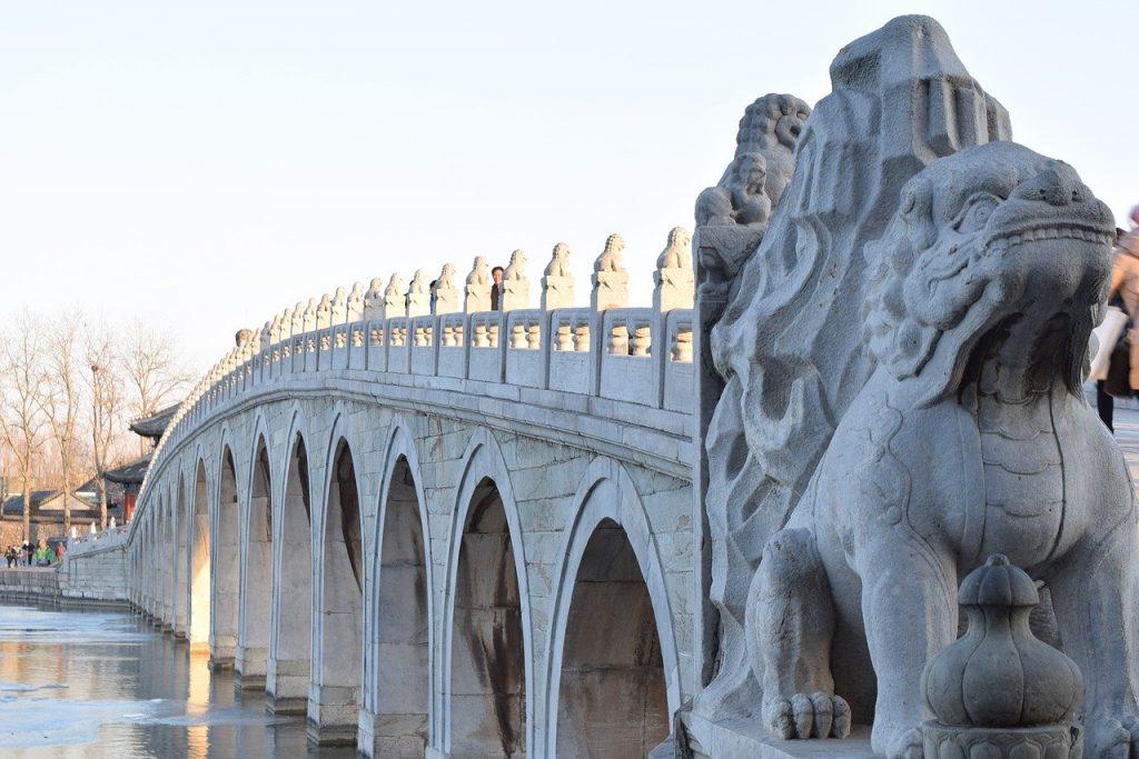 Puente de los 17 Arcos, en el Palacio de Verano de Pekin