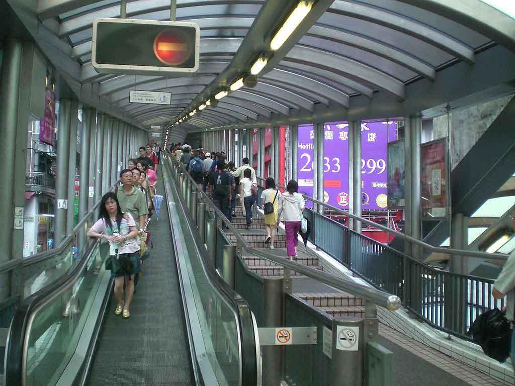 Escaleras Mid Levels en Hong Kong