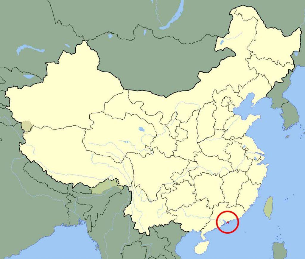 ¿Donde está Hong Kong?