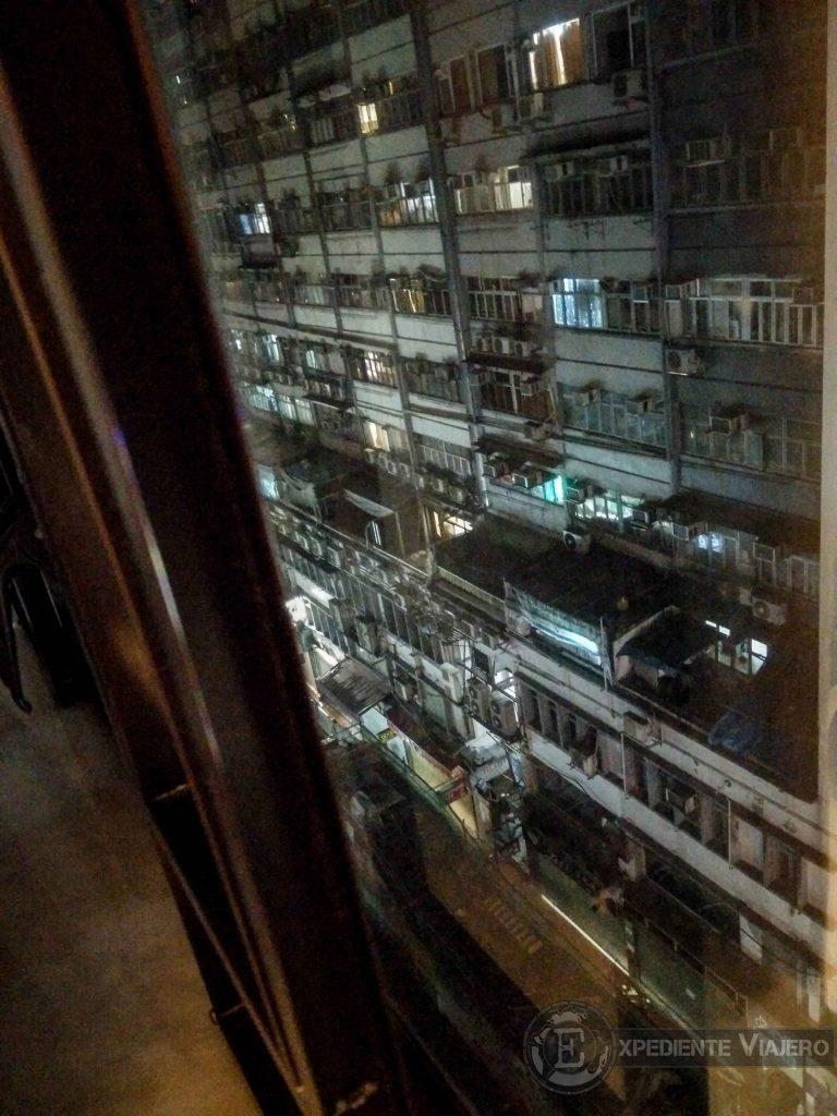 vistas desde el hotel de Hong Kong