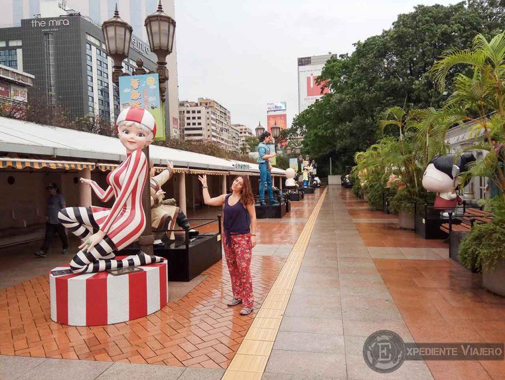 Avenida de las estrellas del cómic en el Parque de Kowloon