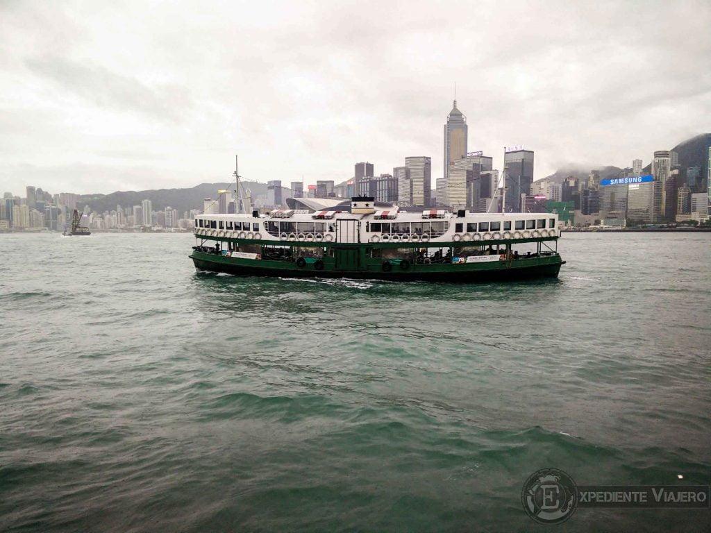 Star Ferry en la bahía de Hong Kong