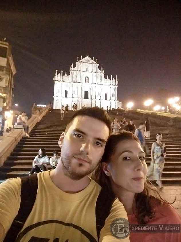 Catedral de San Pablo de noche, Macao