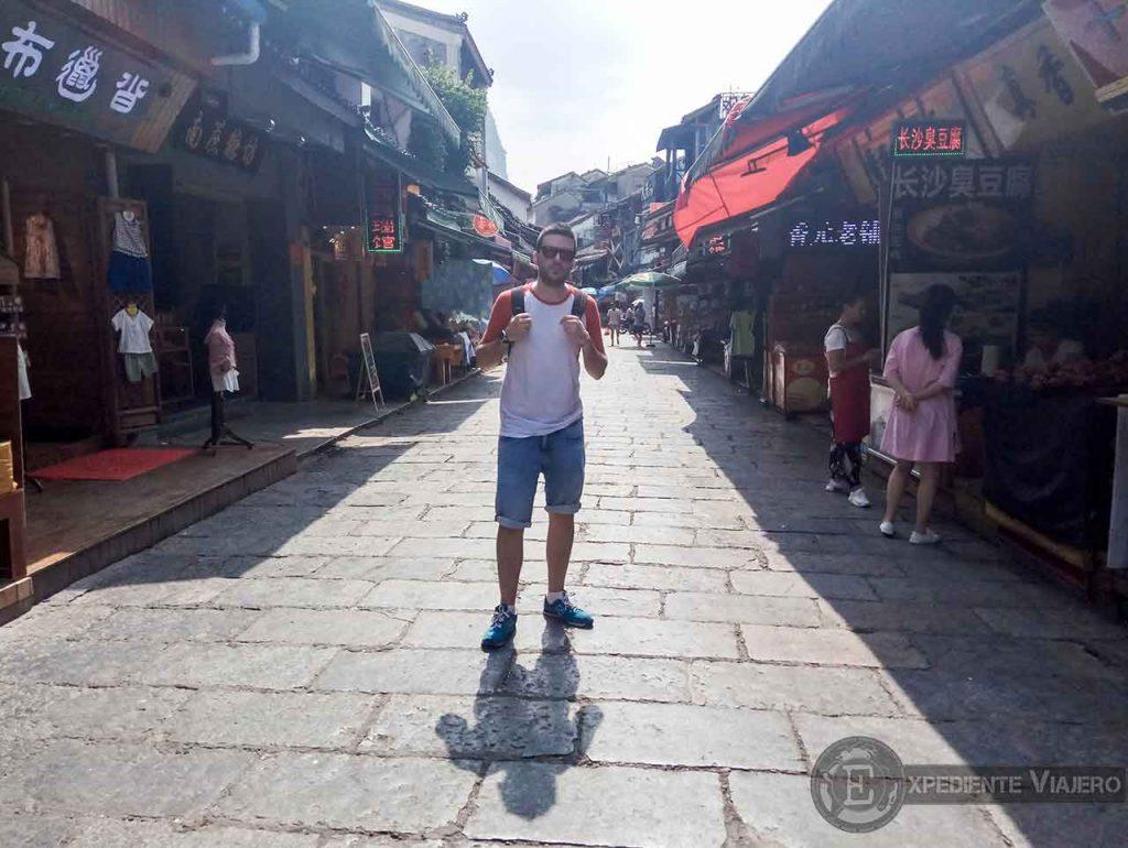 ver la west street en Yangshuo