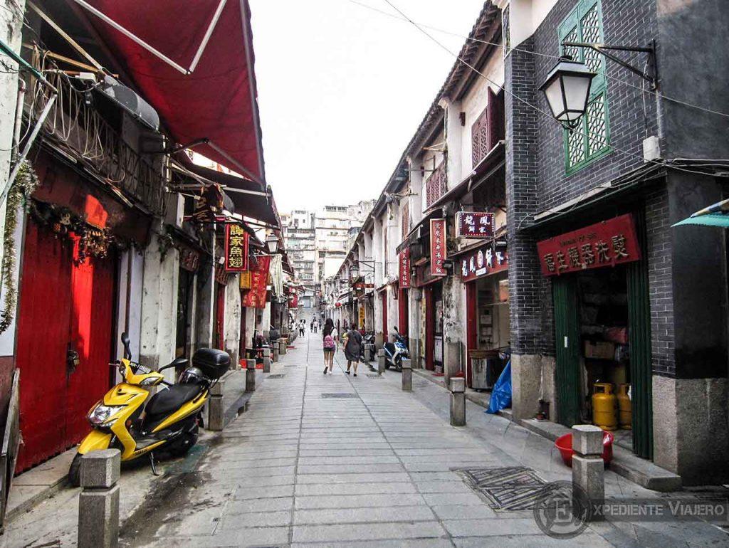 Rua Da Felicidade, calle de Indiana Jones en Macao