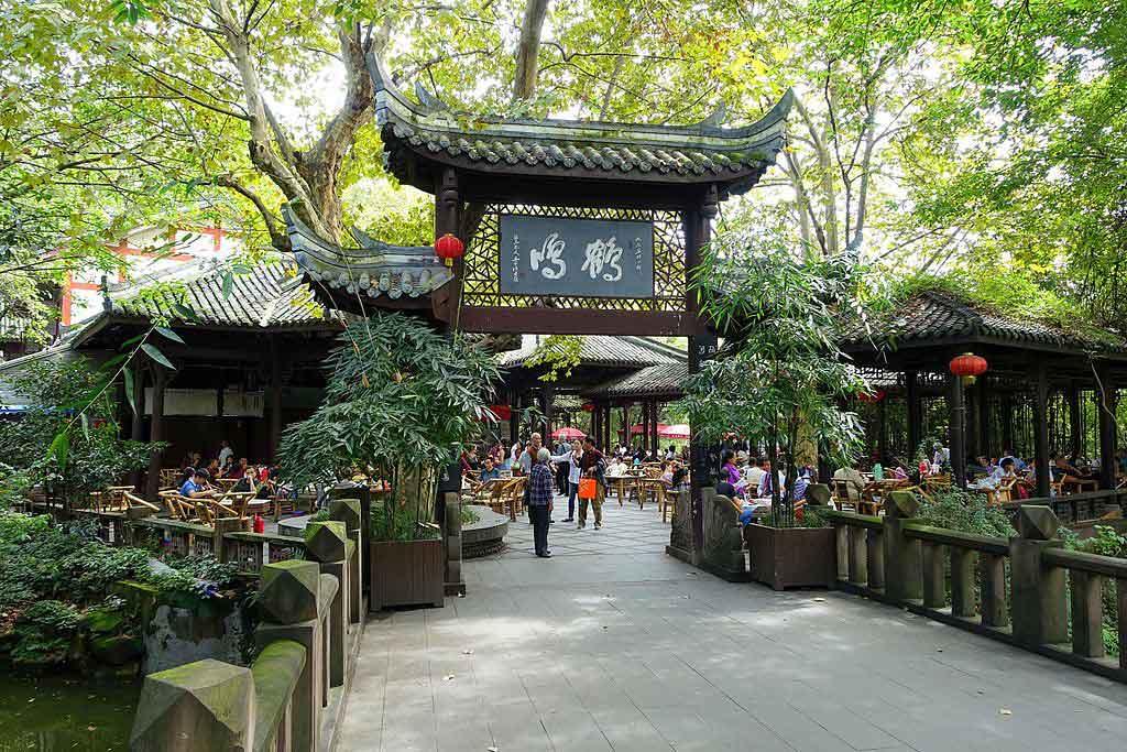 Parque Renmin (o People´s park) en Chengdu