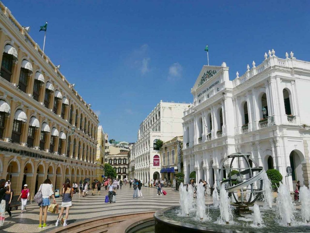 Plaza del Senado en Macao