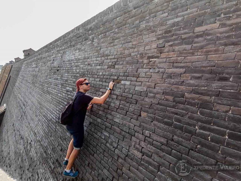Escalando la muralla de Pingyao