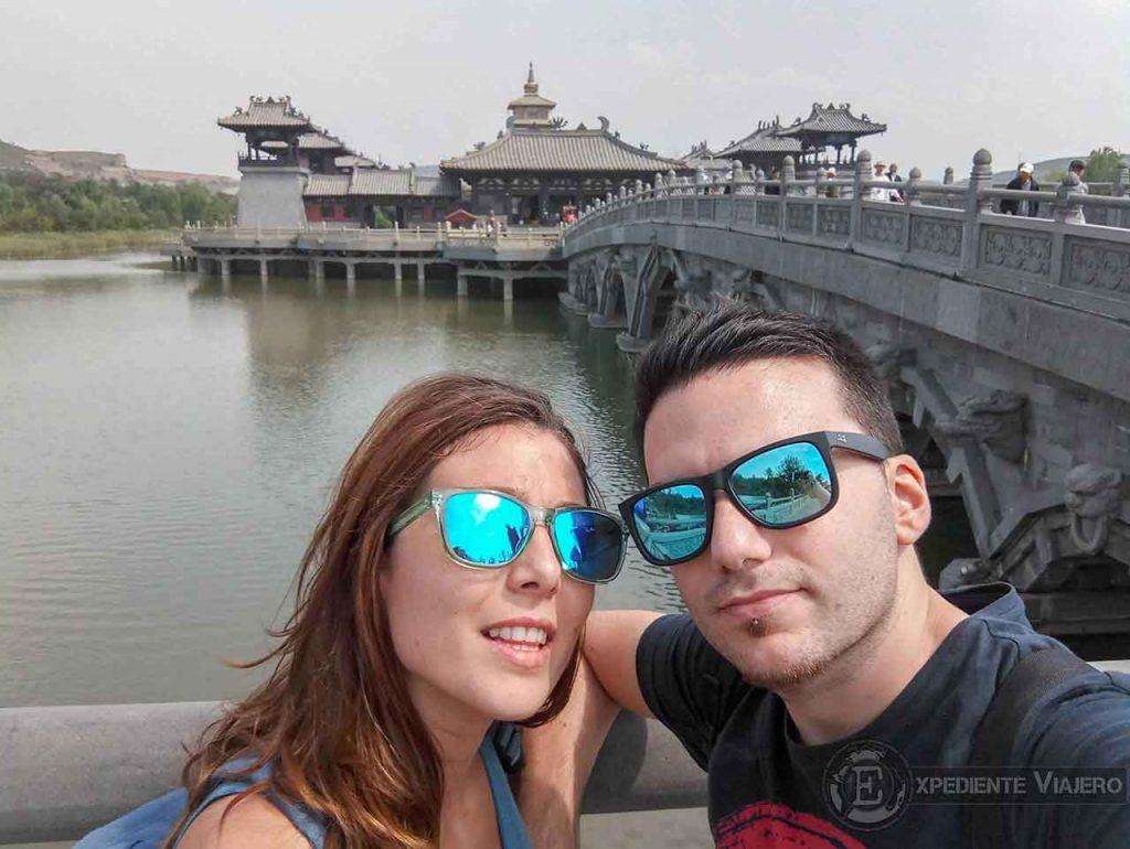 Lago alrededor del Templo Lingyan