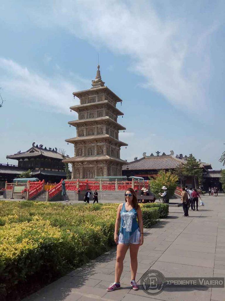 Pagoda en el Templo Lingyan (Yungyang), en Datong