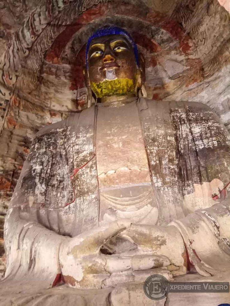 Buda gigante en la cueva 5 (Yungang, Datong)