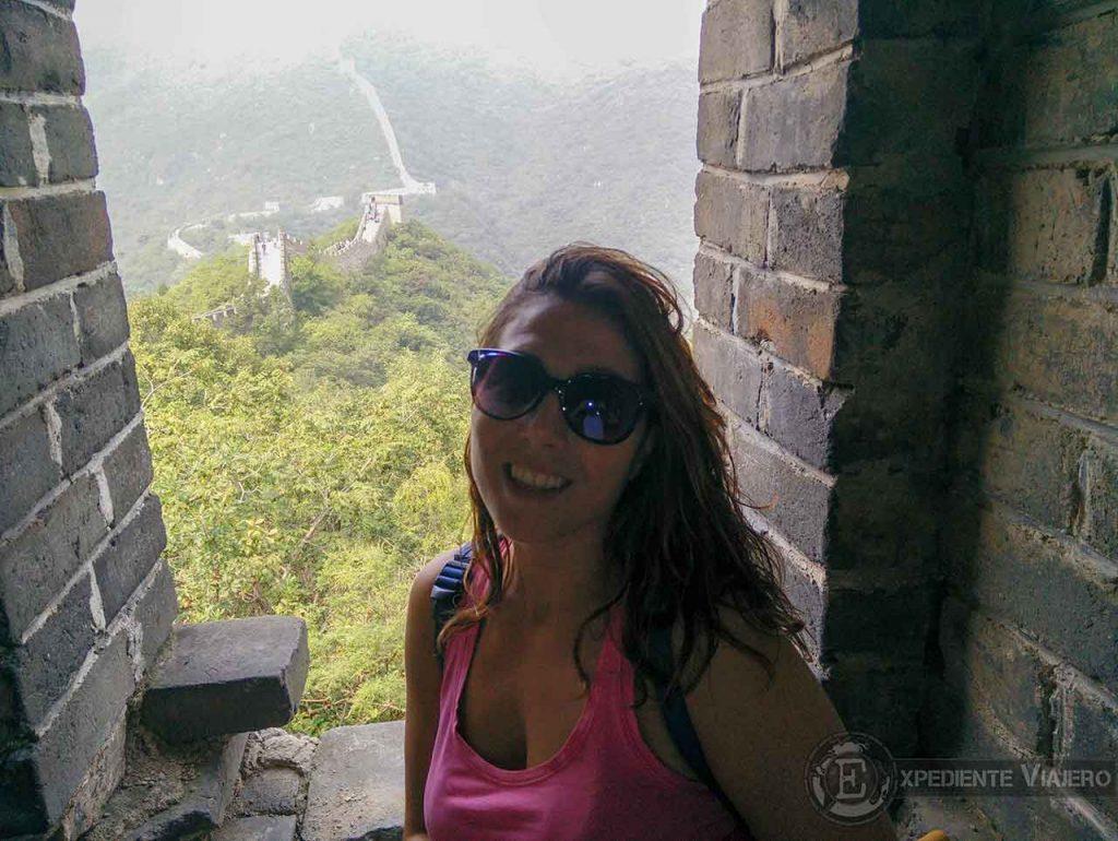 Dentro de una torre de la Gran Muralla de Mutianyu