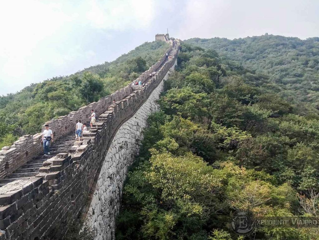 Gran Muralla empinada, vertical