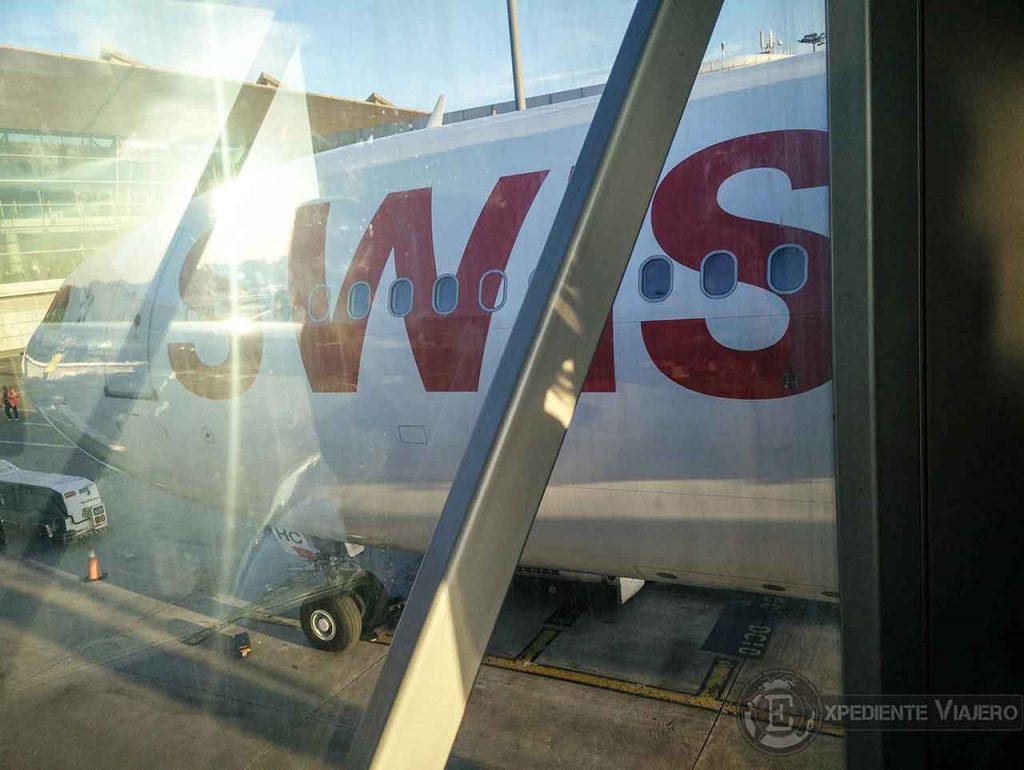 Vuelo de Swiss entre Pekin y Madrid