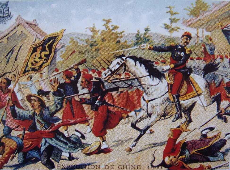 Batalla durante la segunda Guerra del Opio