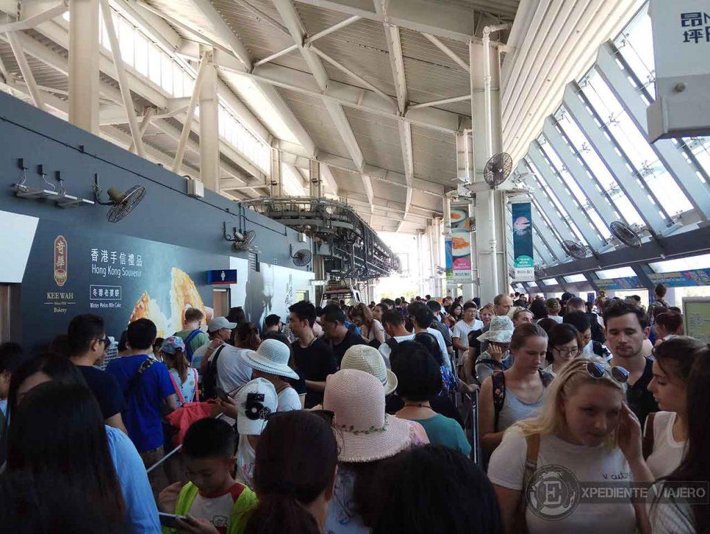 Espera teleférico Ngong Ping 360 Lantau