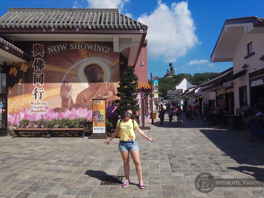 ngong ping village gran buda de lantau