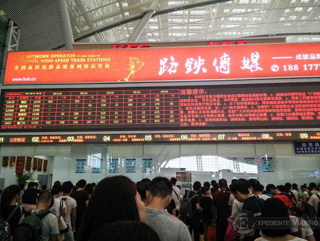 estación Shenzhen taquillas