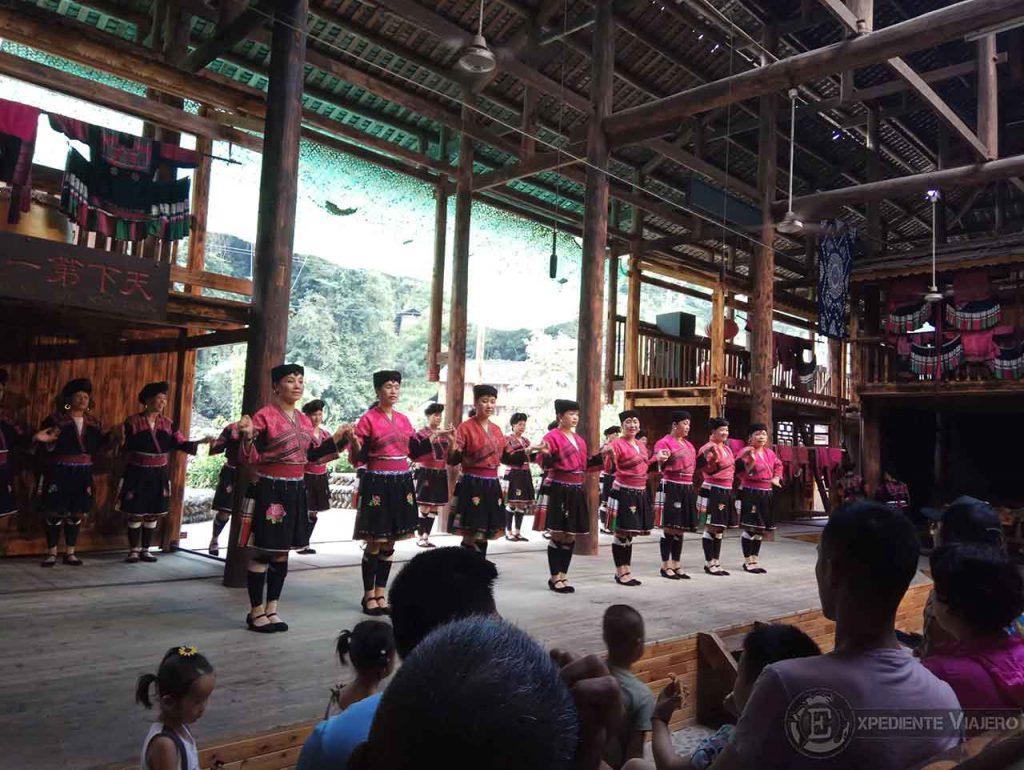 danza Yao arrozales longhseng guilin aldea Dazhai
