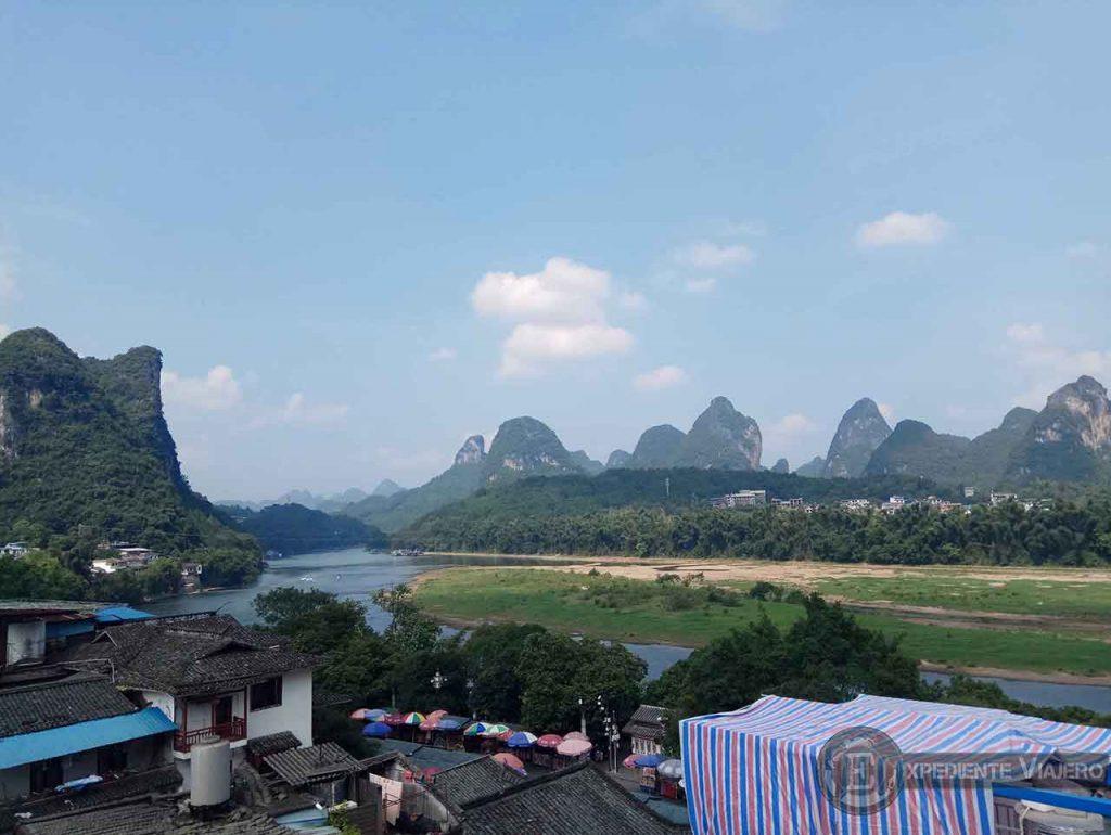 Yangshuo, tras los pasos de Goku! vistas desde el hostel