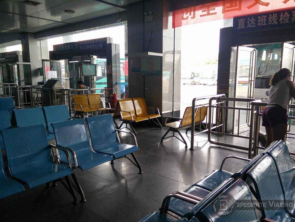 Sala de espera e la estación