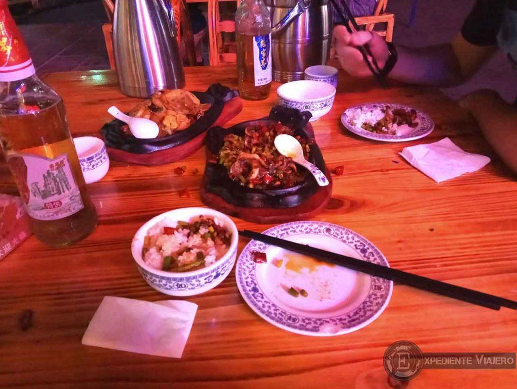 Donde cenar en Wulingyuan