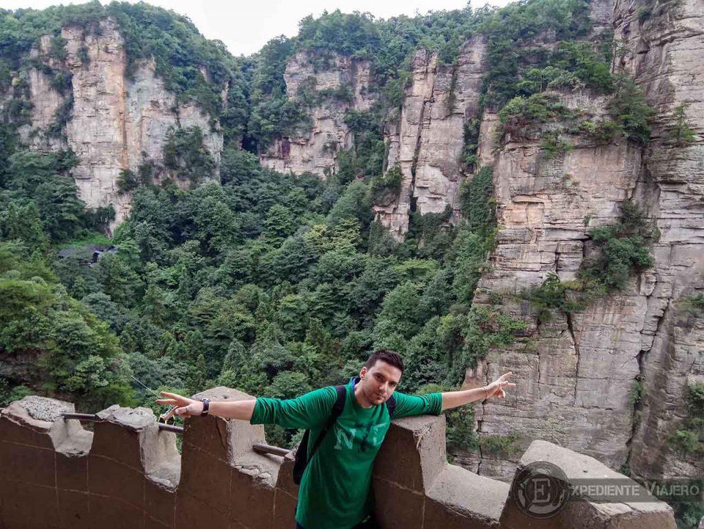 ruta por Yangjiajie en el parque Nacional de Zhangjiajie