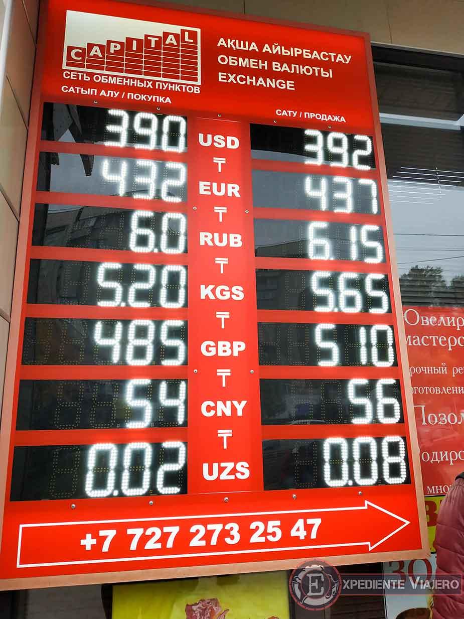 Casa de cambio de moneda almaty