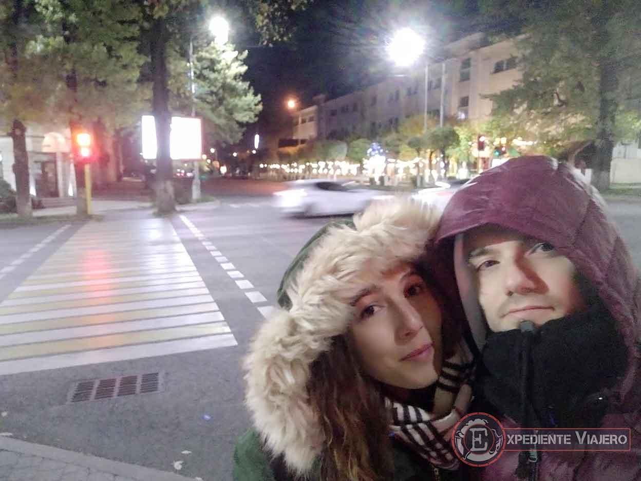 Clima frio de Almaty en otoño