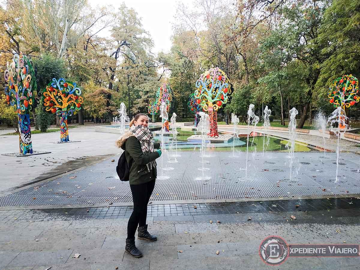 Fuente en el Parque Gorki (Central Park)