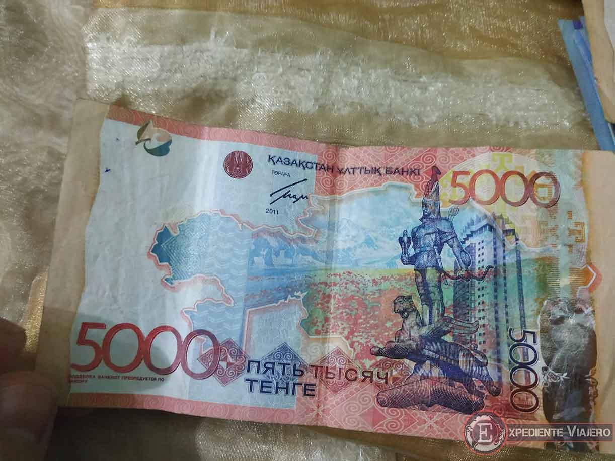 Billete de Tenge kazajo