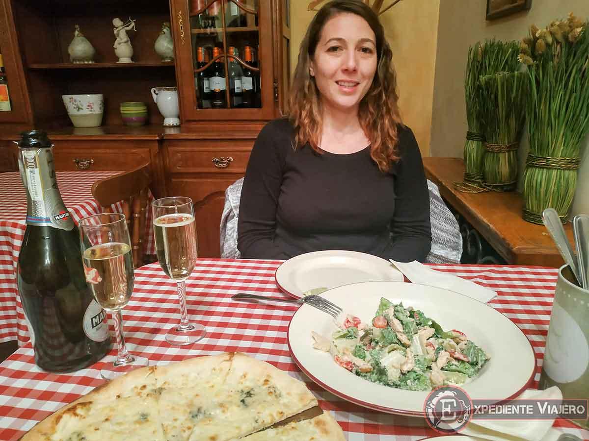 Cena en el italiano en Almaty