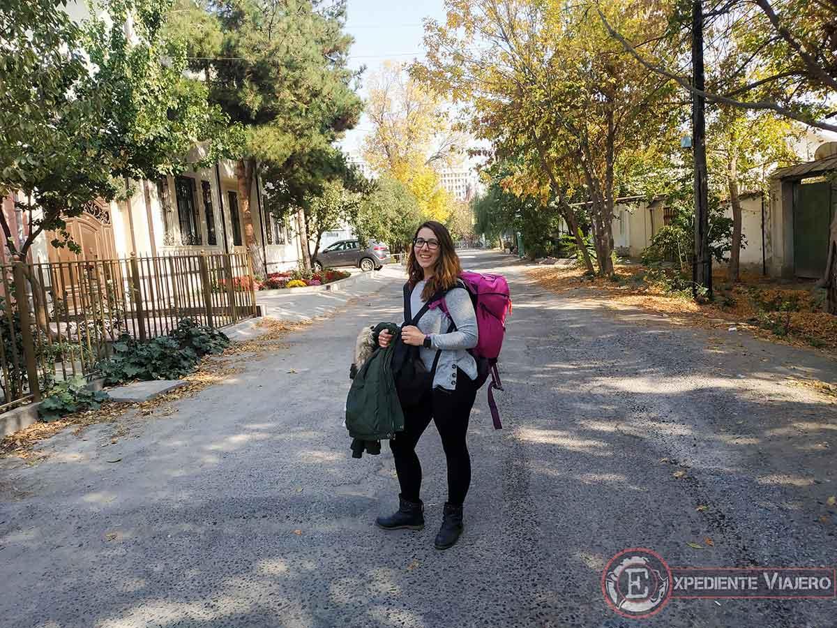 Llegando al hostel de Tashkent