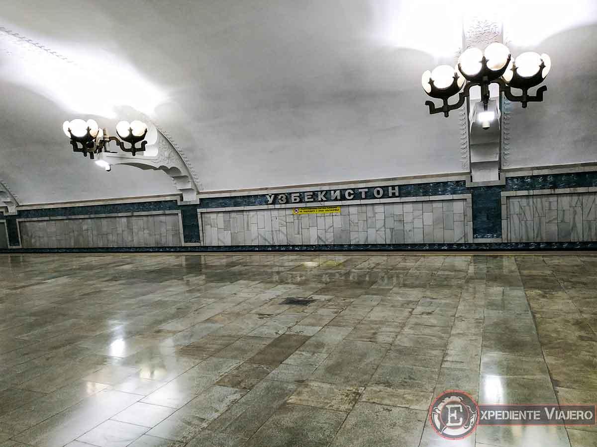 Las bonitas estaciones de metro de Tashkent