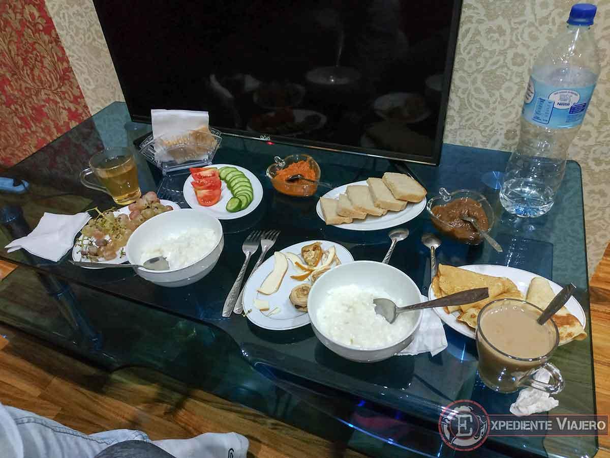 Desayuno del Hostel House